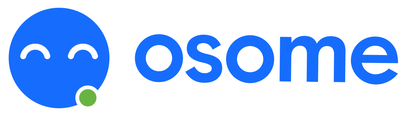 Osome Logo with Smiley Face